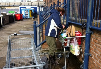 Four shopping trolleys and an irate fisherman - by jelly