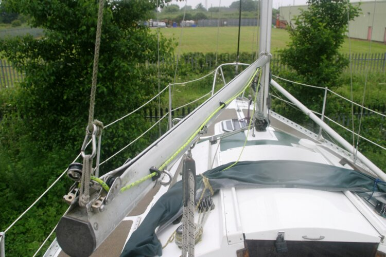Master Marine Eygthene 24for sale The view forward - Looking along the port side