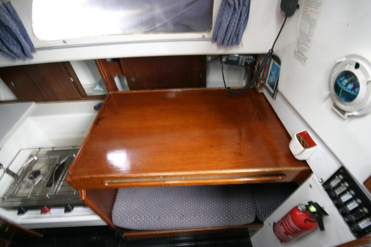 Master Marine Eygthene 24for sale The navigation table - This slides away when not in use.