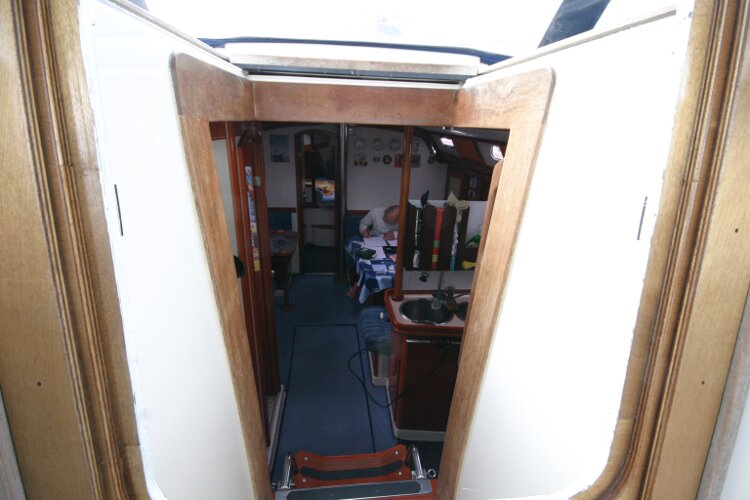 Hanse 411for sale View into Companionway Entrance -
