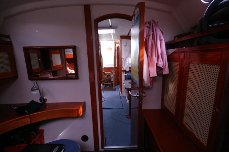 Hanse 411for sale Looking Aft from the Forward Cabin - Entrance Door Open