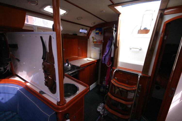 Hanse 411for sale Looking Aft Towards the Galley -