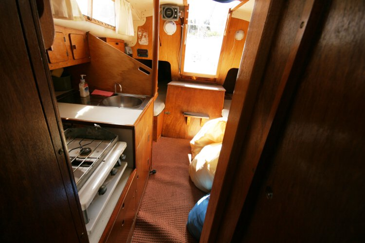 Colvic 26for sale Looking aft - From the fore cabin