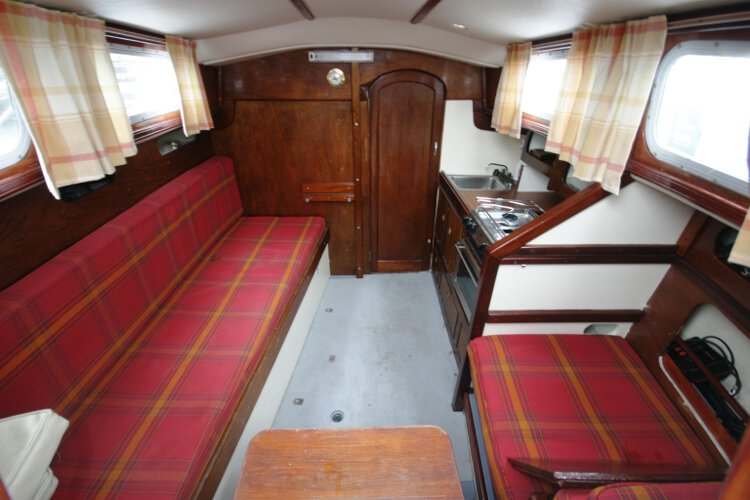 Morgan Giles for sale The saloon - From the companionway looking forwards