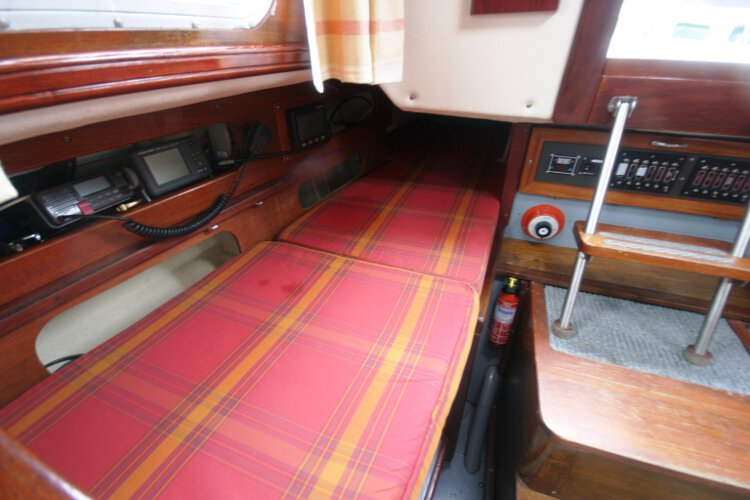 Morgan Giles for sale The starboard quarter berth - situated aft of the chart table