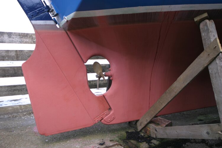 Colvic Springtide 25 Rudder and propeller