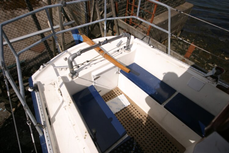 Colvic Springtide 25 Cockpit from starboard side