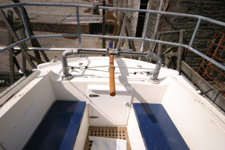 Colvic Springtide 25for sale Cockpit from companionway -