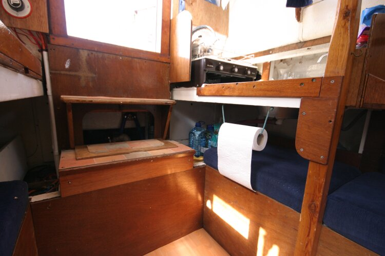 Colvic Springtide 25for sale Beneath the galley -