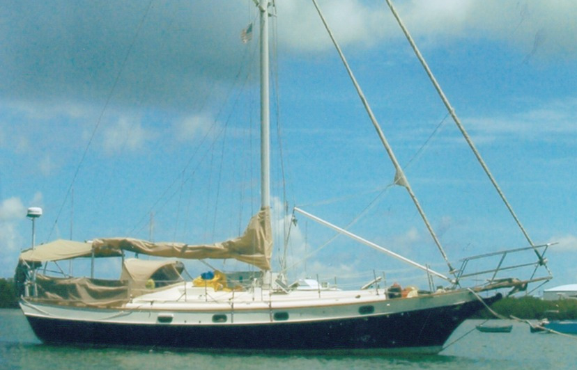 Kadey Krogen 38 Cutterfor sale Owner's Photo - On mooring - Jeff Lesonsky ? 2013 All Rights Reserved