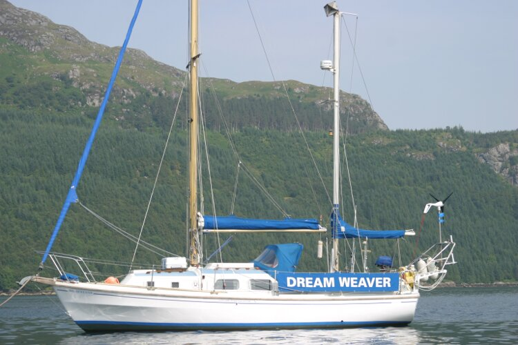 Westerly Renown At her mooring