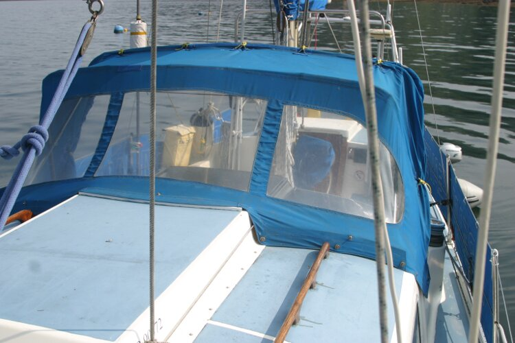 Westerly Renown Coachroof, port side , looking aft