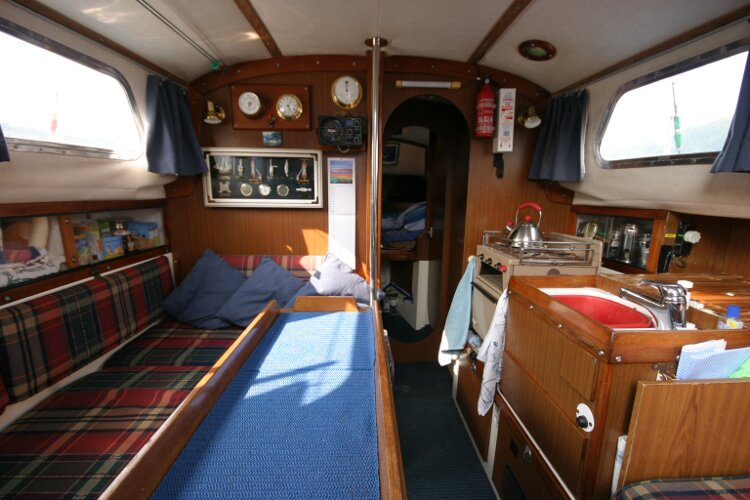 Westerly Renown Saloon from bottom of companionway