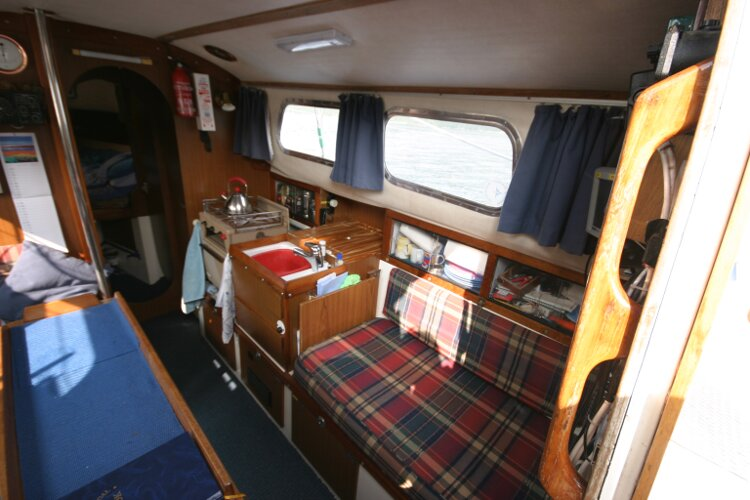 Westerly Renown Saloon from companionway, starboard