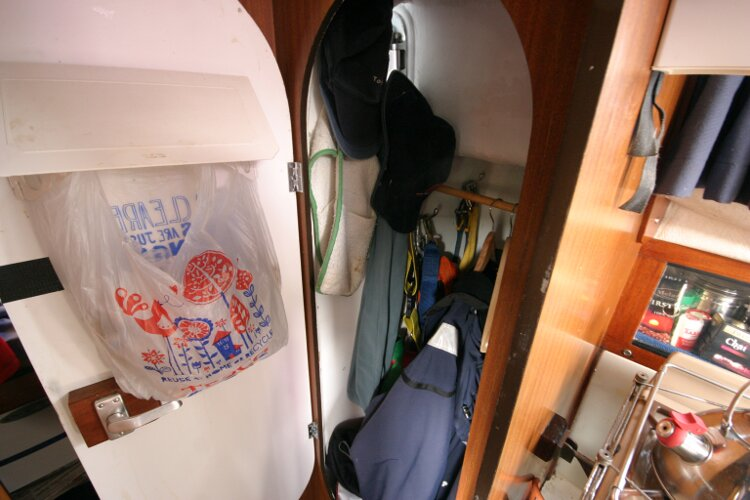 Westerly Renown Wet locker to starboard