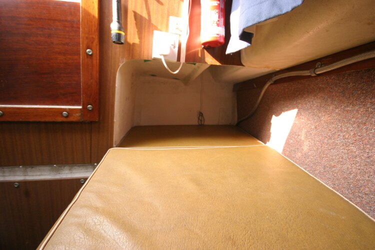 Westerly Renown Aft Cabin Starboard Berth, looking forward