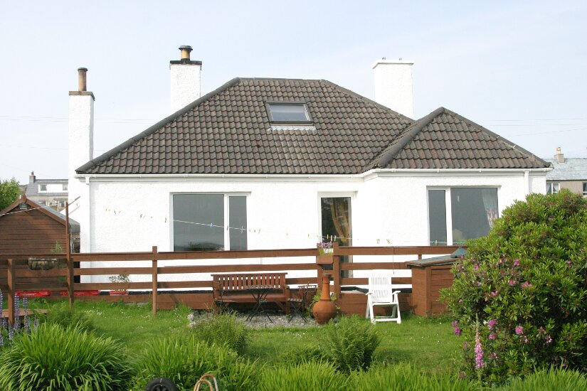 Western Isles Property -  House on the Isle of Lewisfor sale Front view from garden -