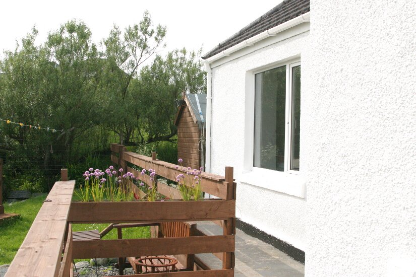 Western Isles Property -  House on the Isle of Lewisfor sale Raised path overlooking garden -
