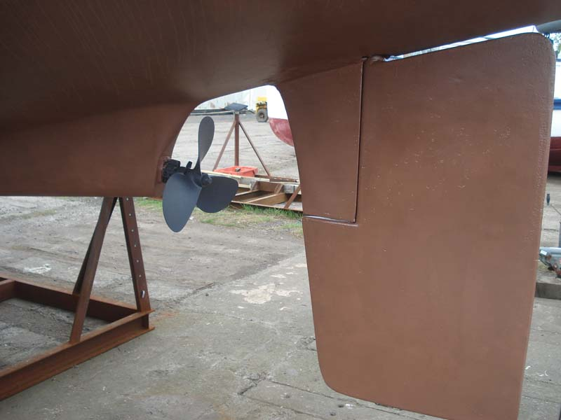 Westerly Renown Rudder and prop, port side