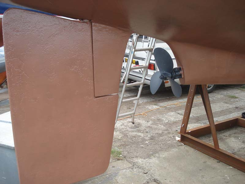 Westerly Renown Rudder and prop, starboard side