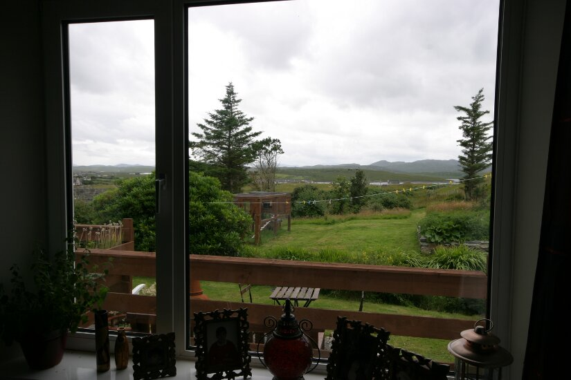 Western Isles Property -  House on the Isle of Lewisfor sale Lounge windoe view -