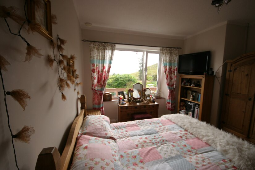 Western Isles Property -  House on the Isle of Lewisfor sale Master Bedroom - looking towards window
