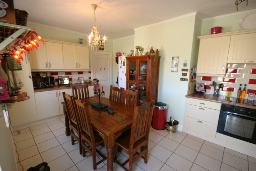 Western Isles Property -  House on the Isle of Lewisfor sale Kitchen Dining Area - Spacious - room for a table of six.