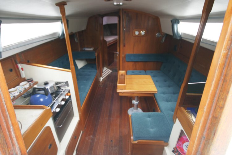Halmatic 30for sale The saloon - Seen from the main companionway
