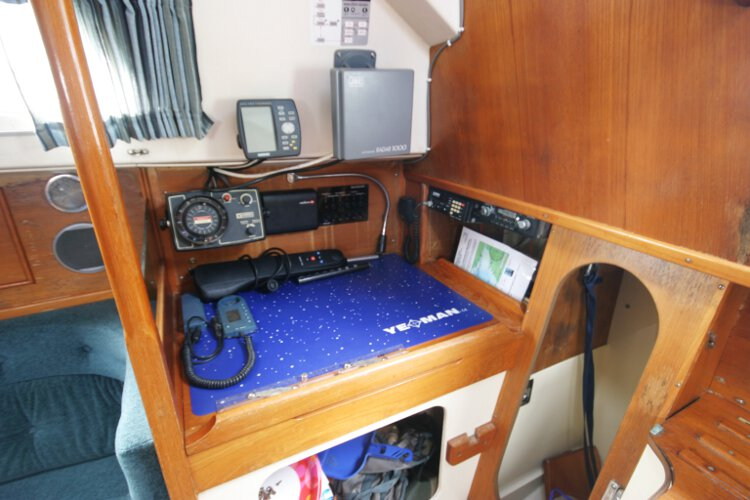 Halmatic 30for sale The navigation station - With all the instruments to hand
