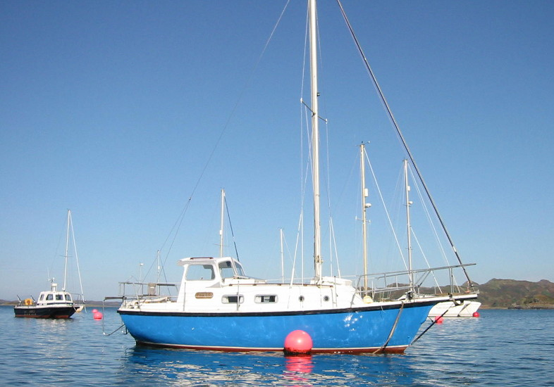 Colvic Springtide 25for sale On her Mooring - Owner's photo