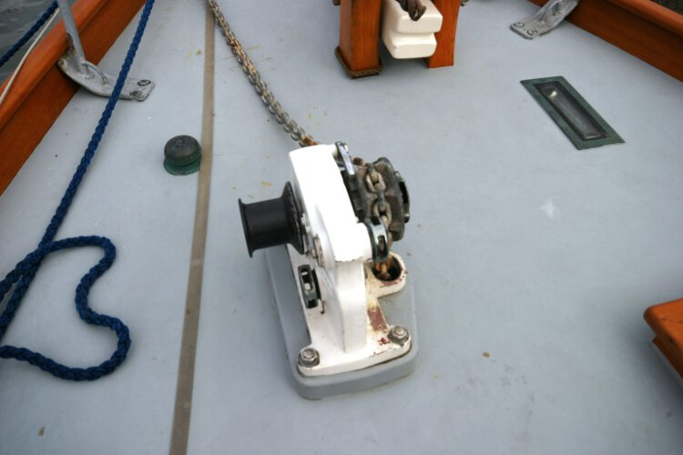 Wooden Classic Gaff cutterfor sale The windlass -