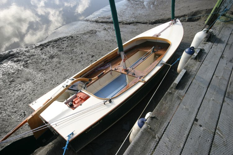 Wooden Classic Core Sound 17 Seen from astern