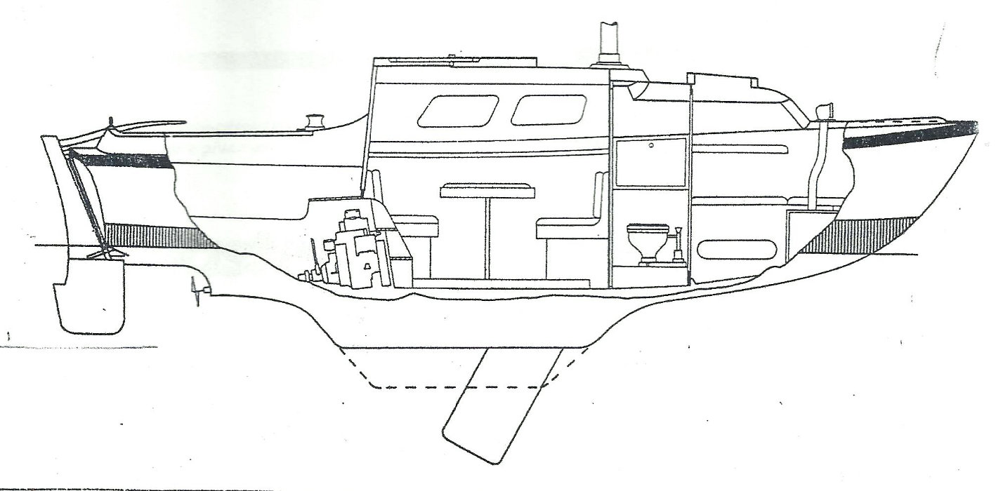 Seamaster Sailer 23for sale Profile Drawing - From Manufacturer's original brochure.