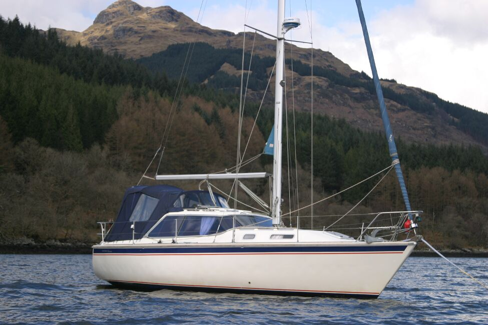 Westerly Riviera 35 MkIIfor sale On Her Mooring - Port side view