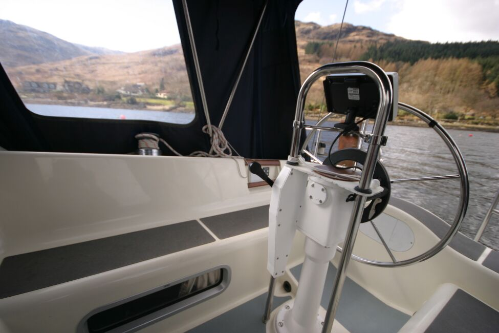 Westerly Riviera 35 MkIIfor sale Cockpit Helm looking aft -