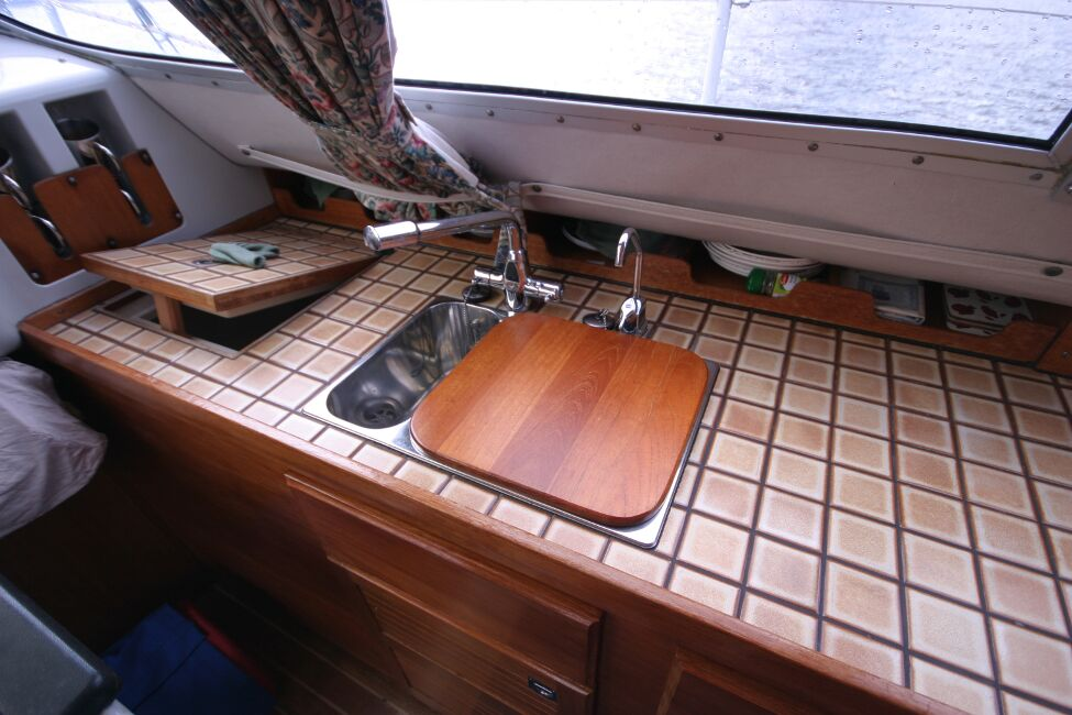 Westerly Riviera 35 MkIIfor sale Galley on Starboard Side - Sink unit and worktop