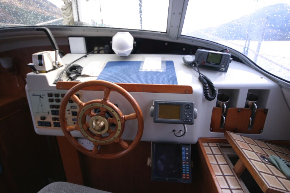 Westerly Riviera 35 MkIIfor sale Inside Helm - view from helm seat