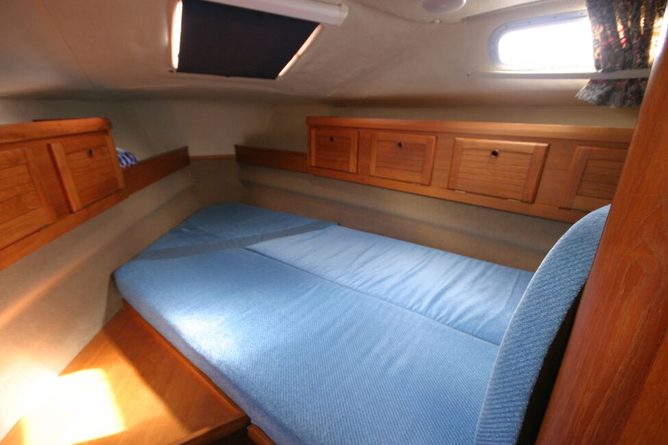 Westerly Riviera 35 MkIIfor sale View into Forward Cabin -