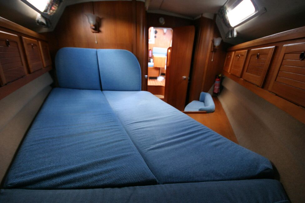 Westerly Riviera 35 MkIIfor sale Forward Cabin - View aft from double berth