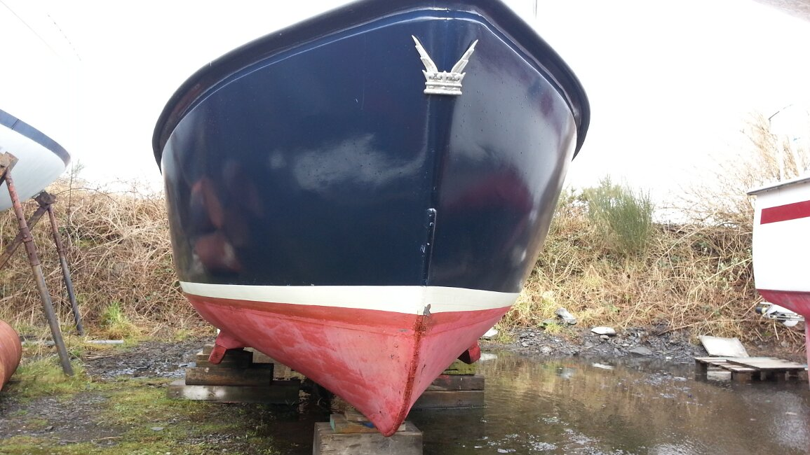 Romany 21 Hull below the waterline