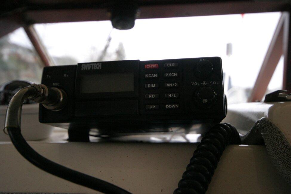 Shetland 640 Hardtop VHF closeup