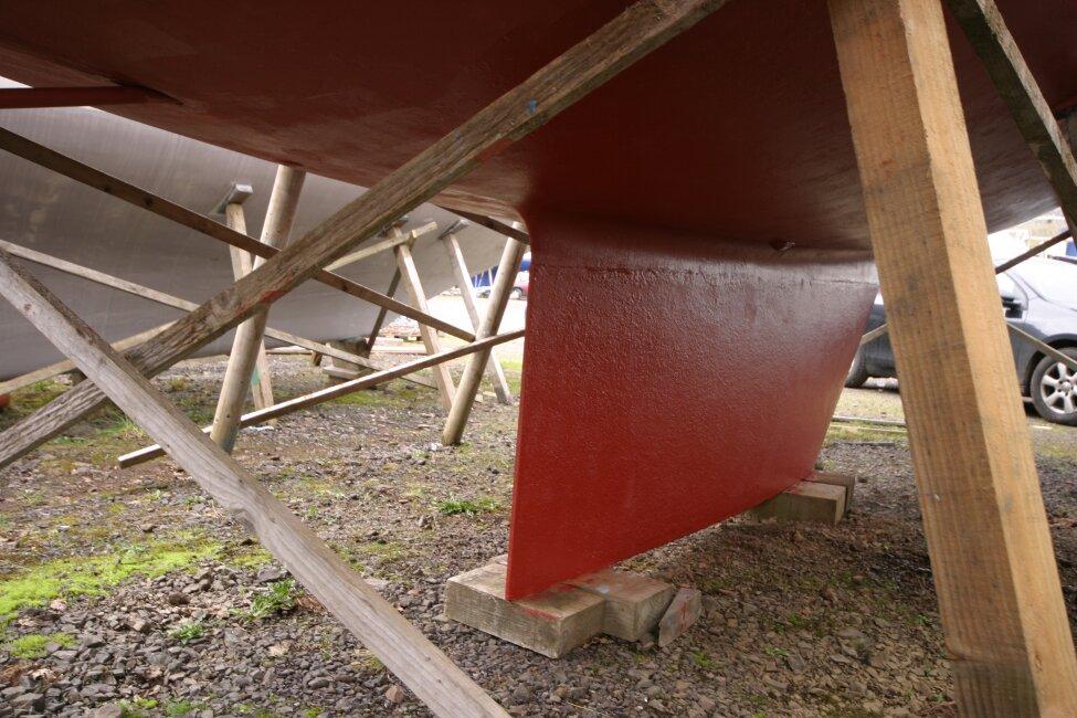 Westerly Corsair Mk 1 Winter in the boatyard