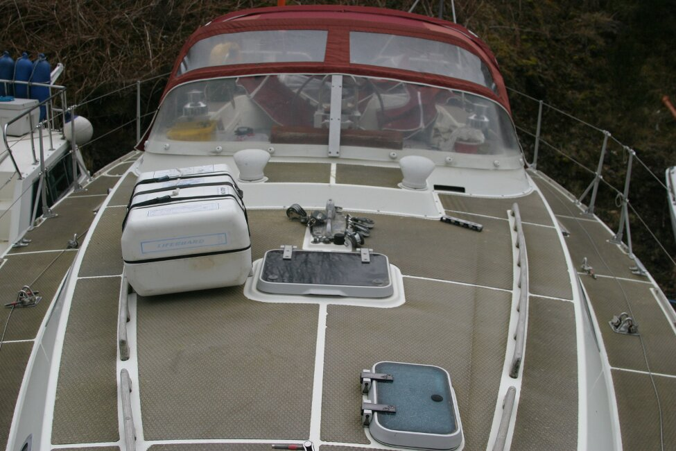 Westerly Corsair Mk 1 View aft over coachroof