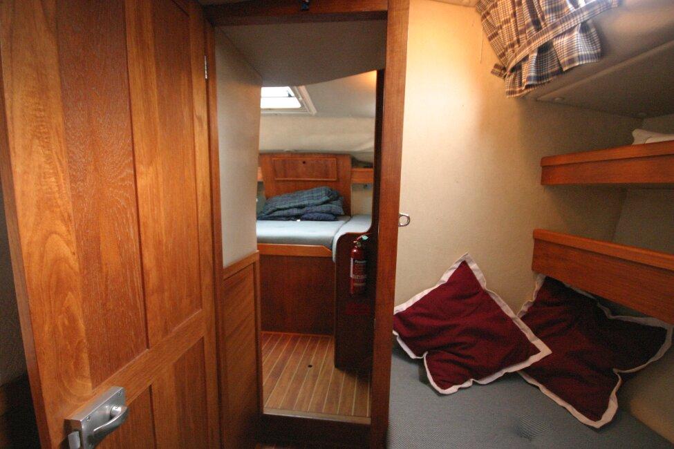 Westerly Corsair Mk 1 Aft Cabin Door open