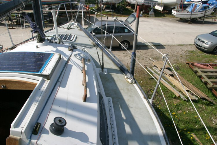 Master Marine Eygthenefor sale Looking along the starboard side deck -