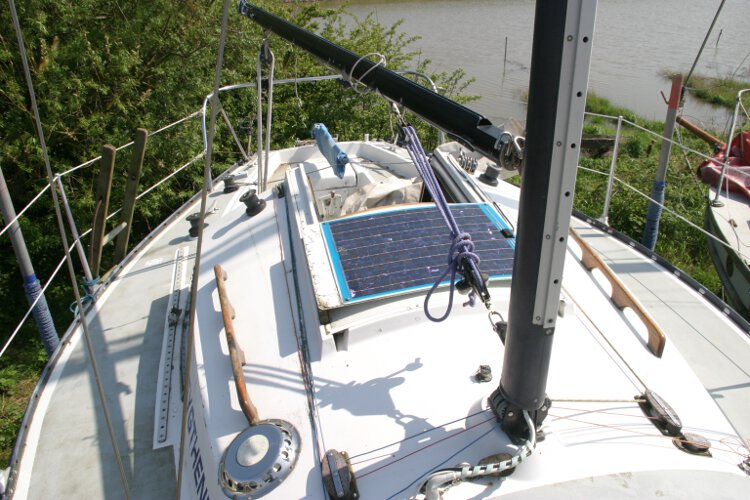 Master Marine Eygthenefor sale Deck view - Note the solar panel