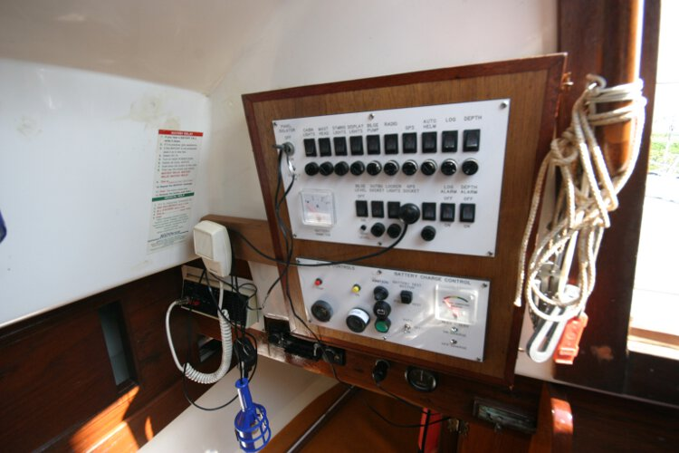 Master Marine Eygthenefor sale Cabin detail - Switch board etc