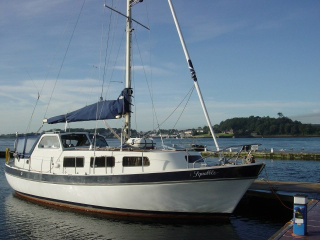Finnsailer 35ft Motor Sailer Afloat at a berth