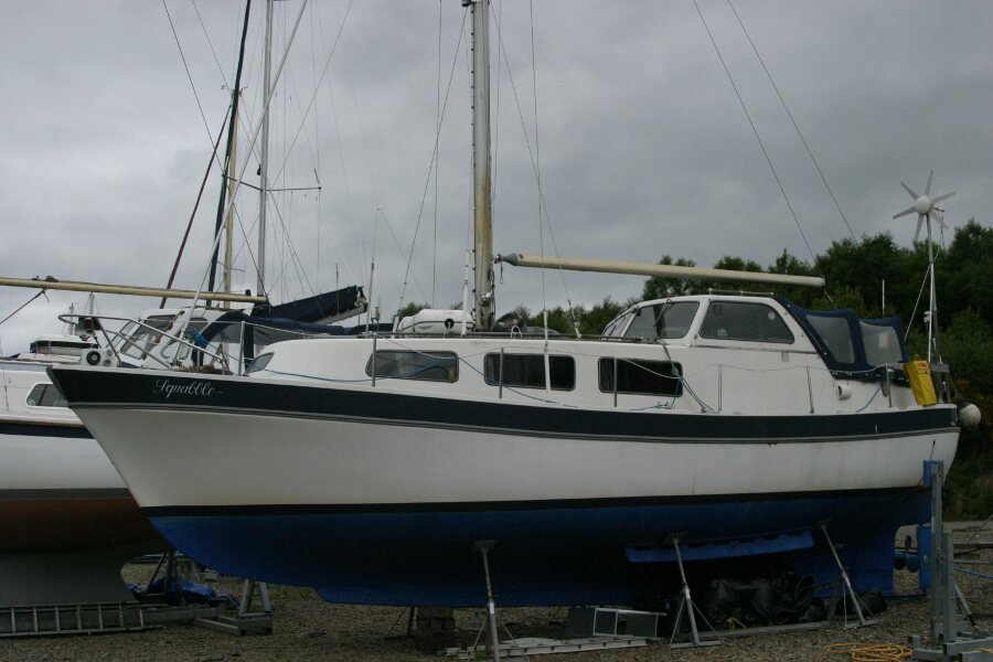 Finnsailer 35ft Motor Sailer Port side