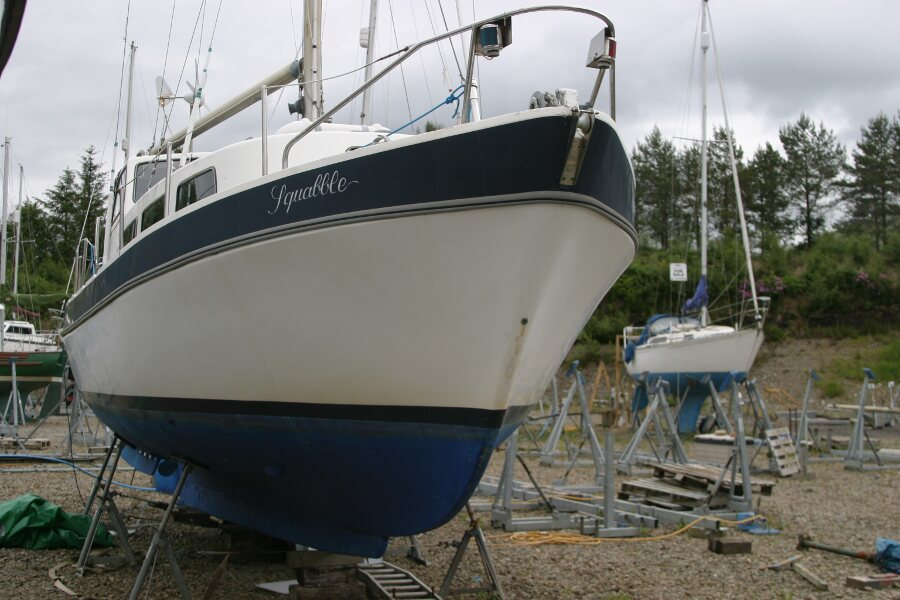 Finnsailer 35ft Motor Sailer Bow view from starboard